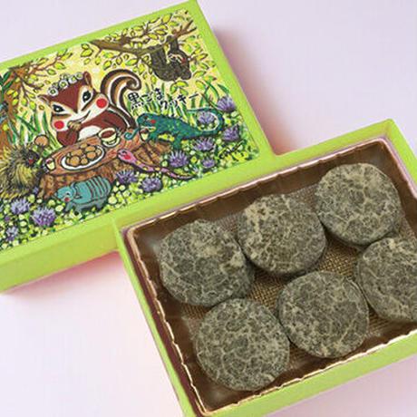 森のお茶会(黒ごまクッキー)