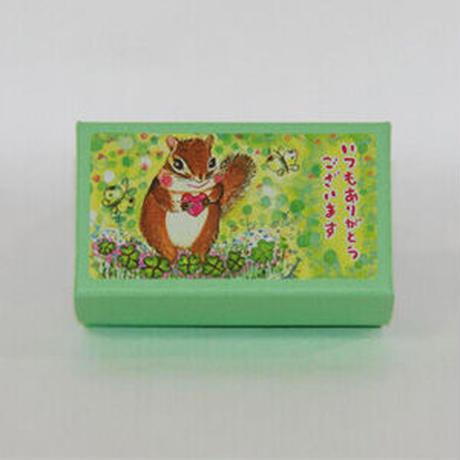 小箱10個セット・緑の中(いつもありがとうございます) チョコくるみクッキー