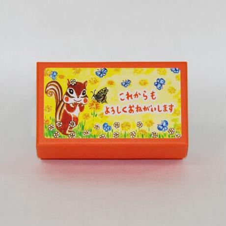 小箱10個セット・蝶々(これからもよろしくおねがいします) チョコくるみクッキー