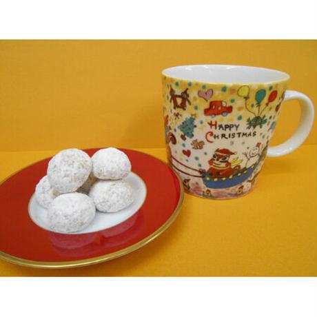 マグカップ・くるみのクッキーセット(かわいい雪だるま)