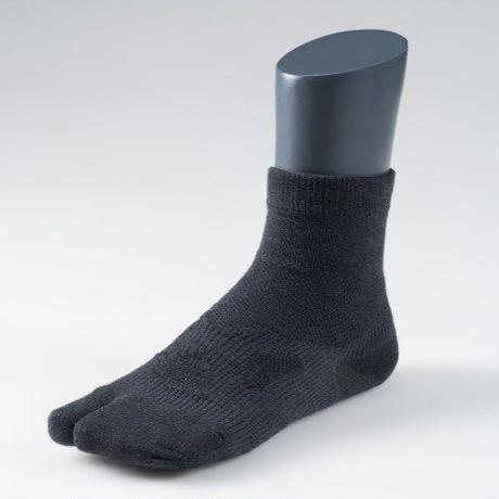 足袋型サポート靴下 ショート丈 ブラック【MEN】