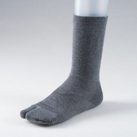足袋型サポート靴下 レギュラー丈 グレー【MEN】