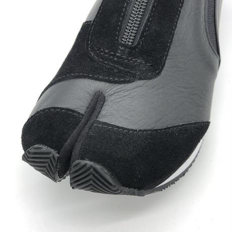 【児島ジーンズ】黒牛革足袋スニーカー(LX8004)