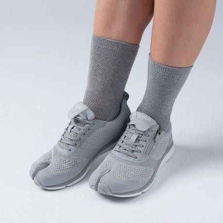 【抗菌防臭】ラフィート足袋型ソックス 2足組 (グレー/MEN)