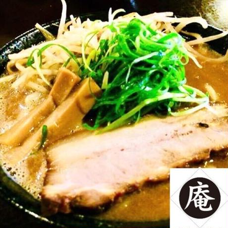 【コラボ商品×冷凍便】らーめんダイニング庵 上州濃厚鶏白湯味噌ラーメンセット