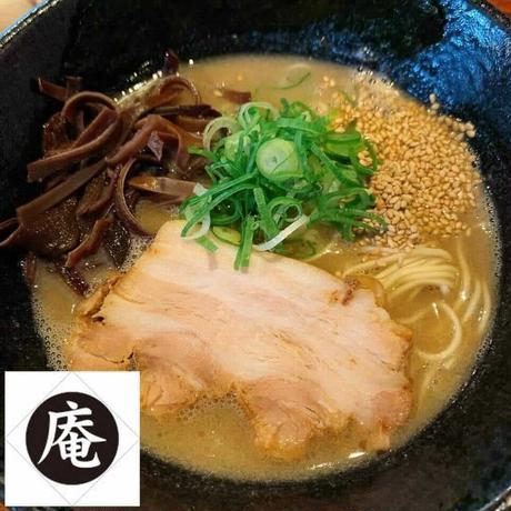 【コラボ商品×冷凍便】らーめんダイニング庵 豚骨ラーメン(替え玉付き!)