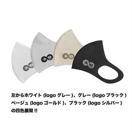 【ベージュ×特色金】オリジナルLOGO入りパステルマスク(フリーサイズ)