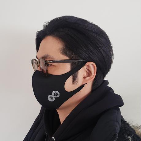【ブラック×特色銀】オリジナルLOGO入りパステルマスク(フリーサイズ)