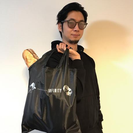 【数量限定】たためるINFINITYエコバック【黒×特色銀】