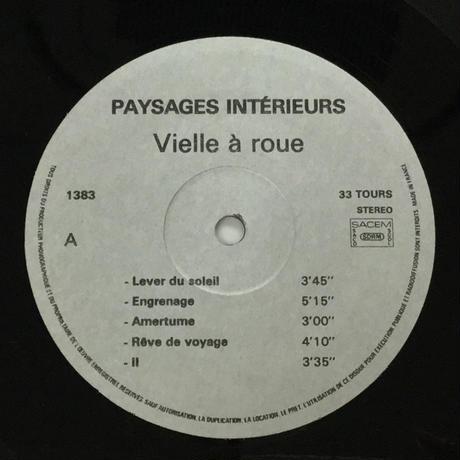 Rémy Couvez-Paysages Intérieurs Vielle à Roue