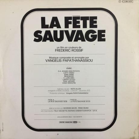 Vangelis Papathanassiou-La Fête Sauvage