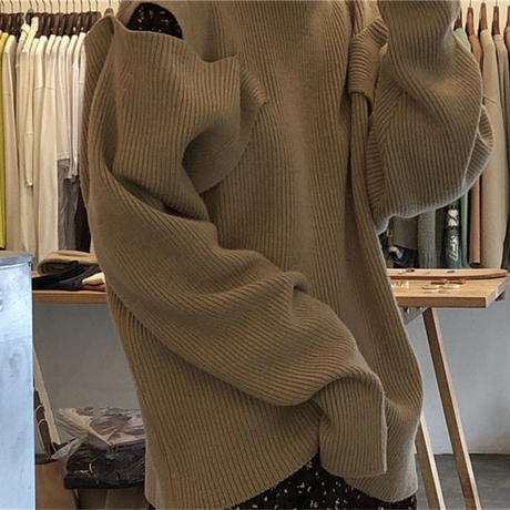【即納】Open shoulder knit