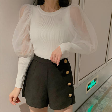 【即納】see-through long tops