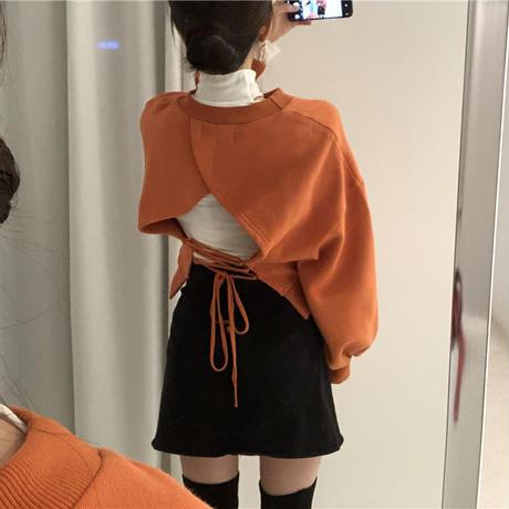 【即納】back ribbon sweat