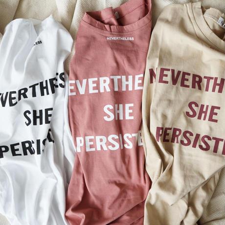 五分袖ロゴTシャツ