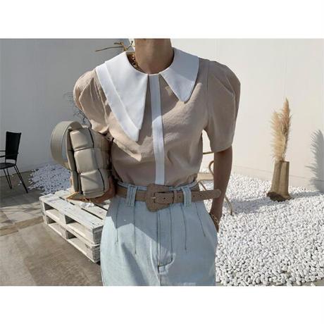 asymmetry collar tops