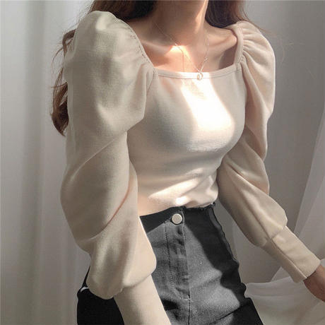 【即納】puff sleeve  tops