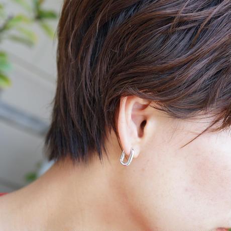 【送料込/1900yen】Silver925 square earring