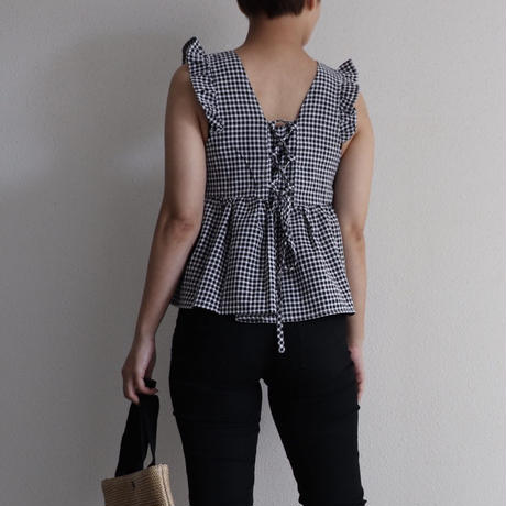 gingham check tops
