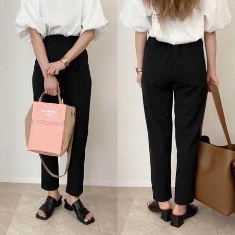 《AMIE original》テーパードpants/black