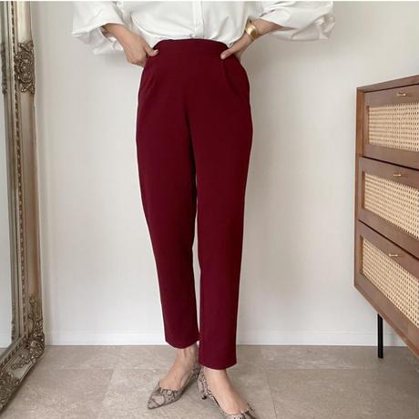 《AMIE original》テーパードpants/burgundy