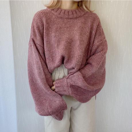 モヘアタッチknit ピンク