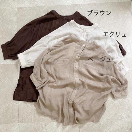 【ゆうパケット◎】スラブシアーノーカラーshirt  3color