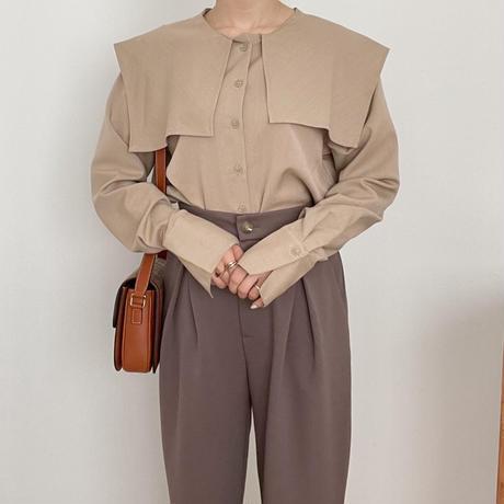 【ゆうパケット◎】ビッグカラーblouse / beige