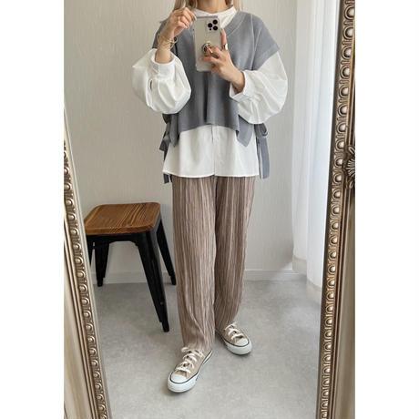 《AMIE original》プリーツpants beige