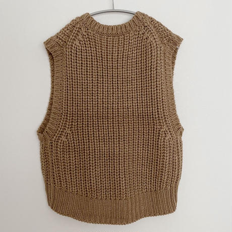 Vネック ローゲージ 片畦knit ベスト