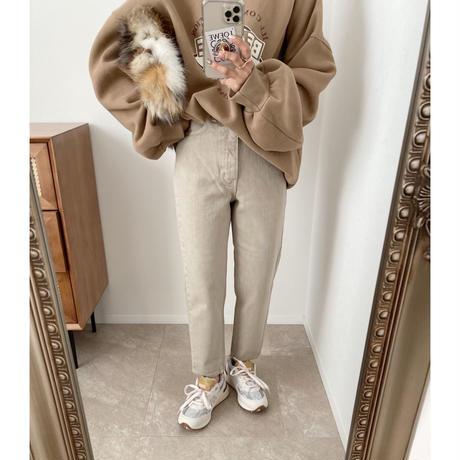 《AMIE original》テーパードdenim / beige