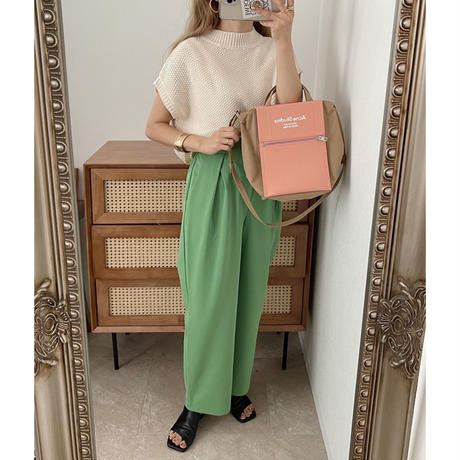 ショート丈knitベスト / 4color