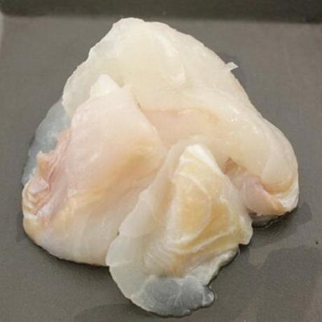 三陸南部沖)天然ヒラメ端材(生食用)(100g/パック)x8kg