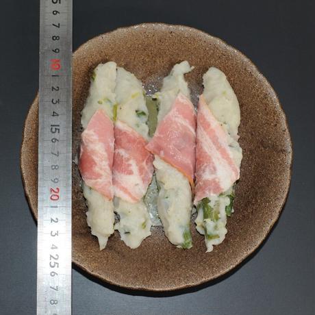 〈石臼&手作り〉アスパラベーコンのにぎり天ぷら〈小〉60gX30本X6袋
