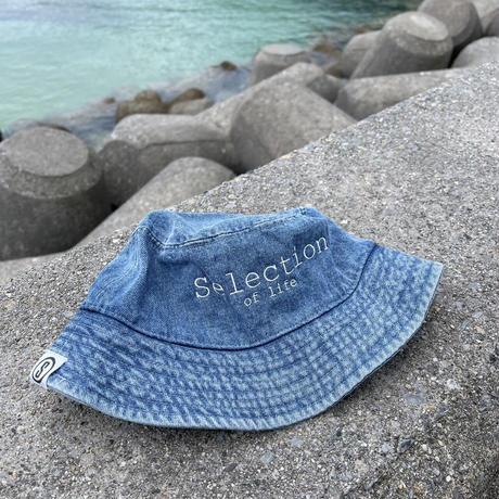 Selection of life. Brand LOGO Bucket Hat DENIM