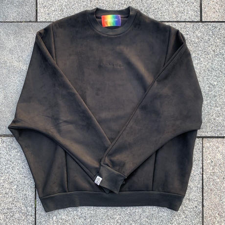 Selection of life. Suede Crew Sweat BLACK