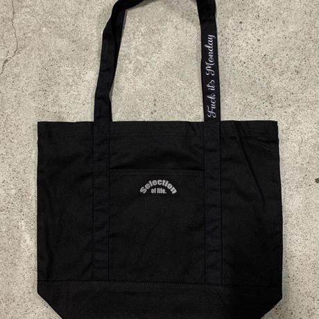 Selection of life. Reflector Tote Bag Black×Gray