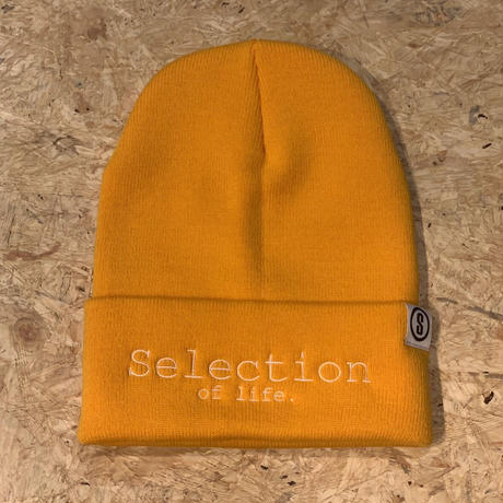 Selection of life. Brand LOGO Beanie GOLD