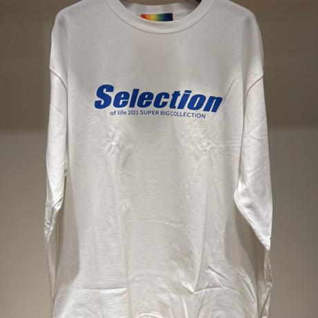Selection of life. Diagonal LOGO Tee WHITE