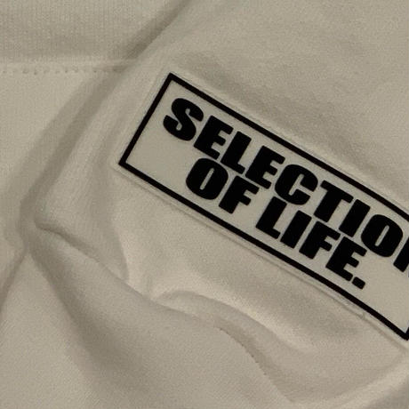 Selection of life. × LOS ANGELES APPAREL Hoodie White