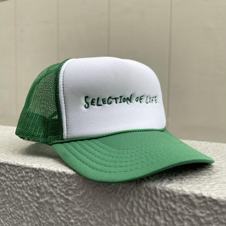 Selection of life. 2nd Brand LOGO Mesh Cap GREEN