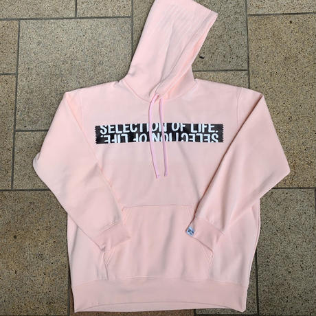 Selection of life. Brand Name TAPE Hoodie Pink
