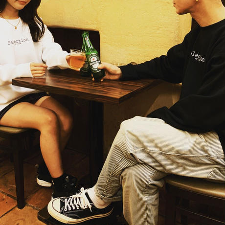 Selection of life. Brand LOGO Crew Sweat White