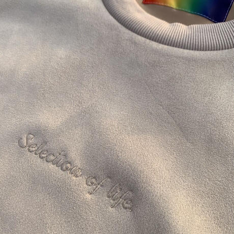 Selection of life. Suede Crew Sweat WHITE