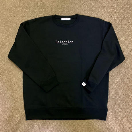 Selection of life. Brand LOGO Crew Sweat Black