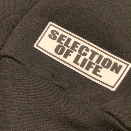 Selection of life. × LOS ANGELES APPAREL Hoodie Black