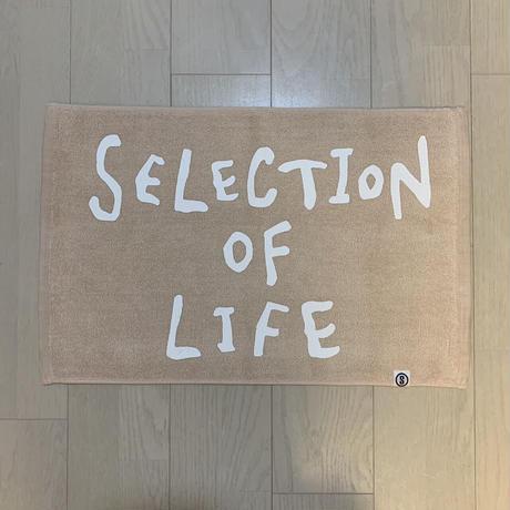 Selection of life. 2nd Brand LOGO Bath Mat LIGHTBROWN