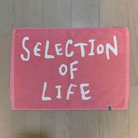 Selection of life. 2nd Brand LOGO Bath Mat LIGHTPINK