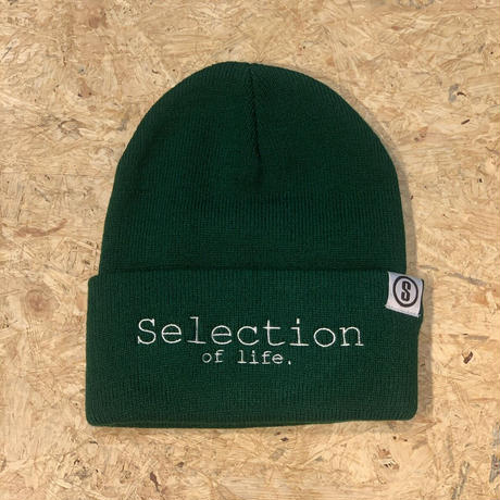 Selection of life. Brand LOGO Beanie FOREST GREEN
