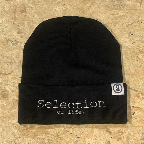 Selection of life. Brand LOGO Beanie BLACK